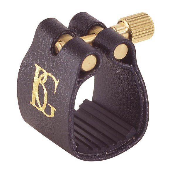 BG Standard Fabric Ligature ~ Tenor Sax ~ Rubber Support