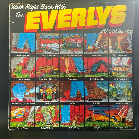 The Everlys - Walk Right Back 1975 UK LP VG+/G+