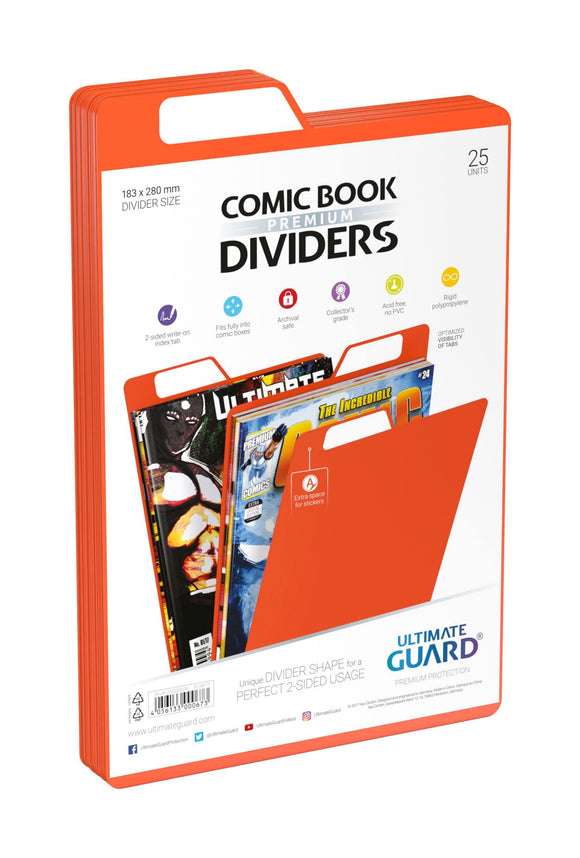 Ultimate Guard Premium Comic Book Dividers Orange (25)