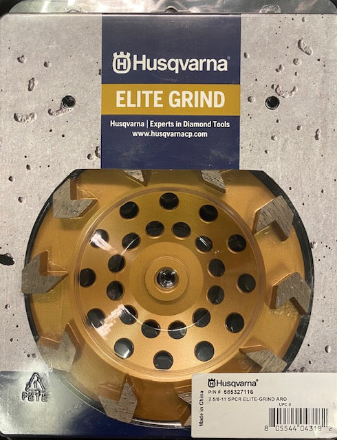 Husqvarna Elite Grind Arrow Cup Wheel 7 Inch Threaded