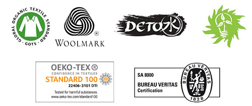 Clothing manufacturer accreditations