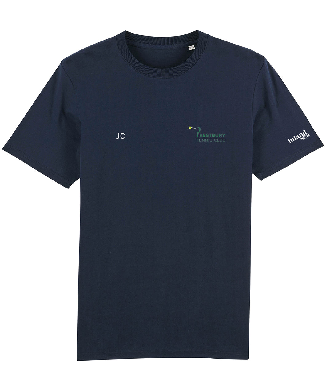Prestbury Tennis Club Navy T-shirt with initials