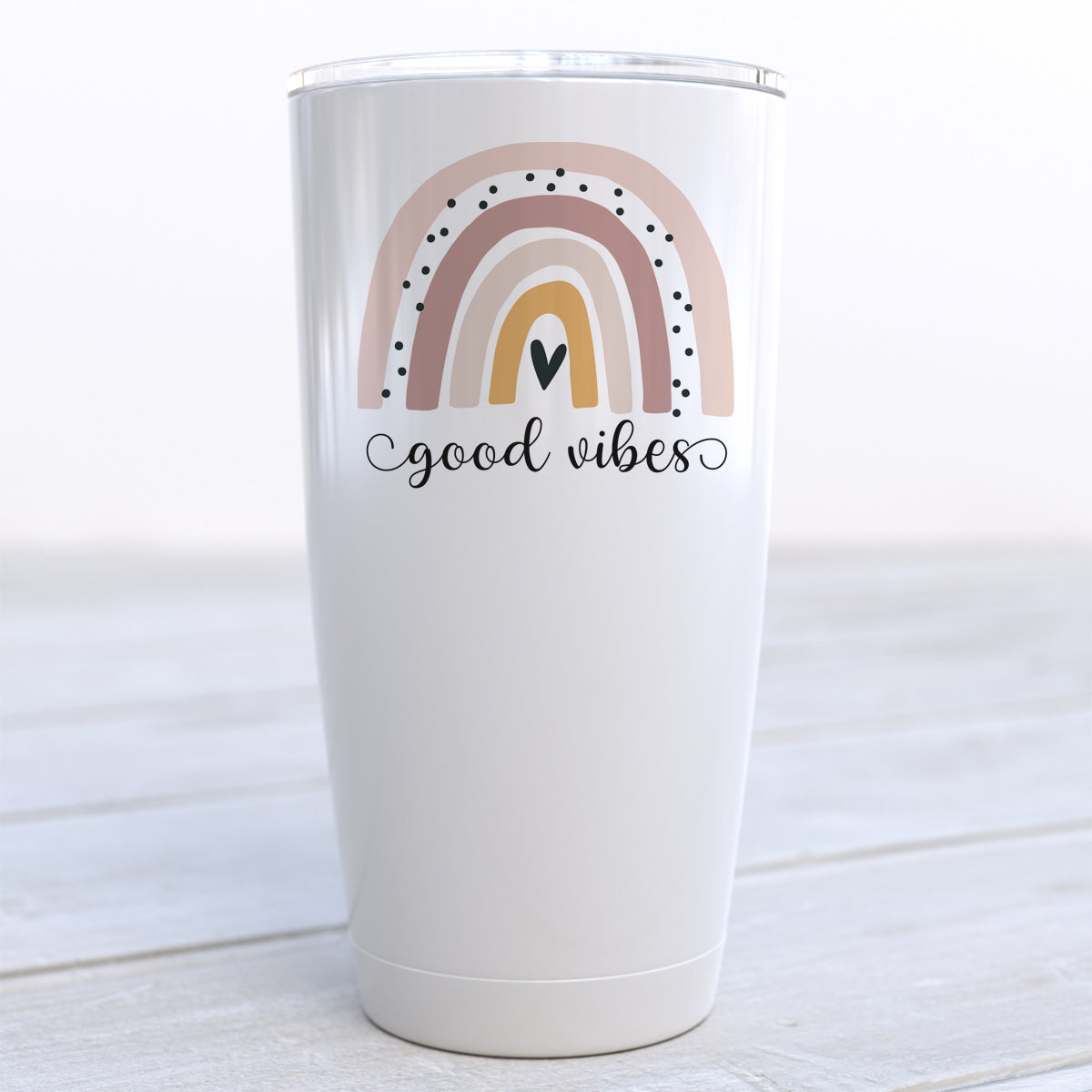 Good Vibes Boho Rainbow Travel Cup