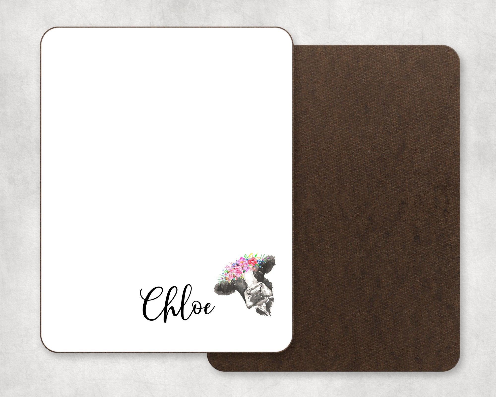 Personalized Cow Dry Erase Board
