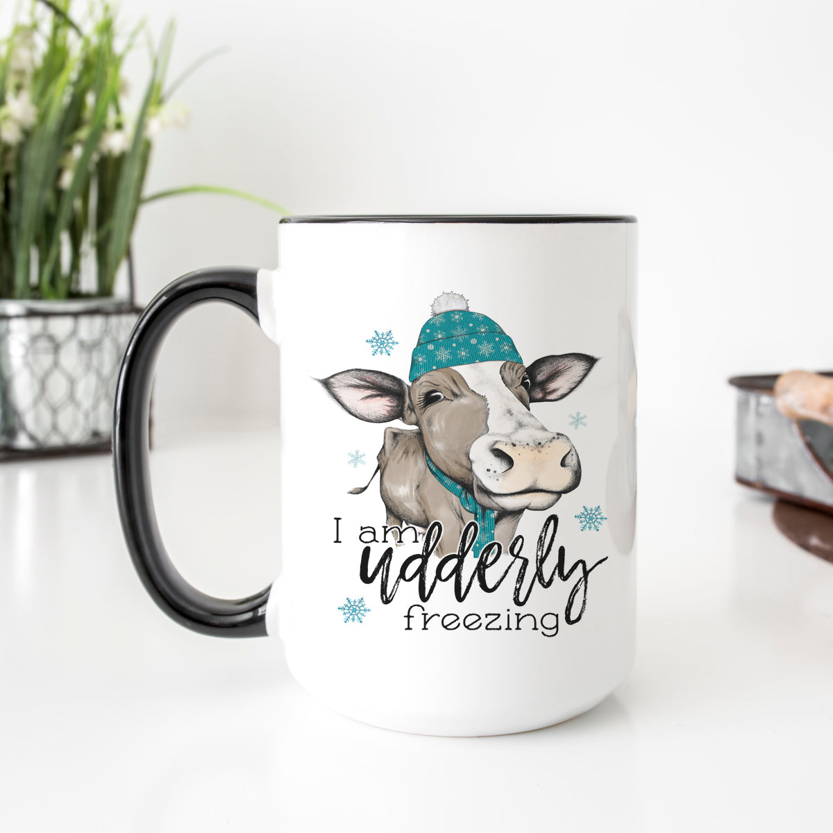 Udderly Freezing Cow Mug