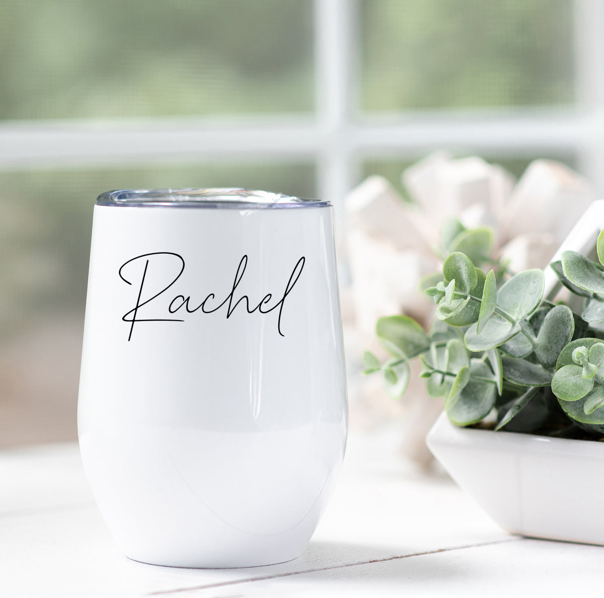 Simple Personalized Wine Tumbler