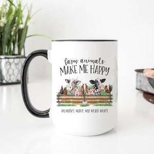 Farm Animals Make Me Happy Mug