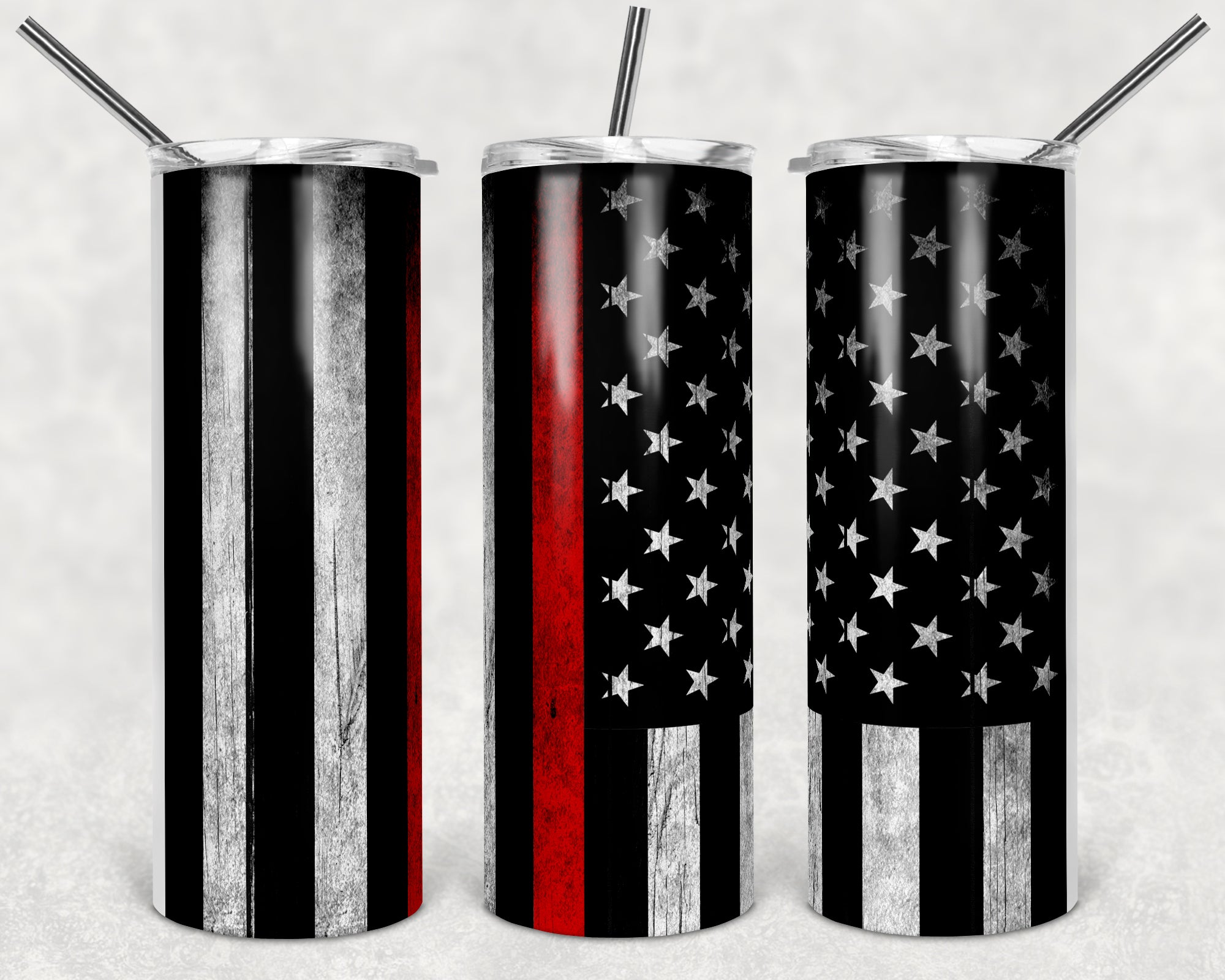 Thin Red Line Skinny Tumbler