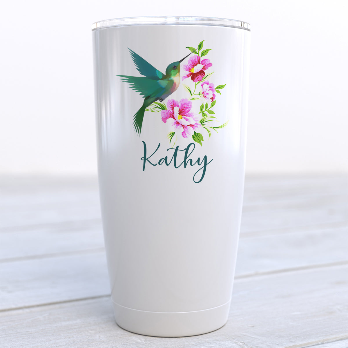 Personalized Hummingbird Travel Cup