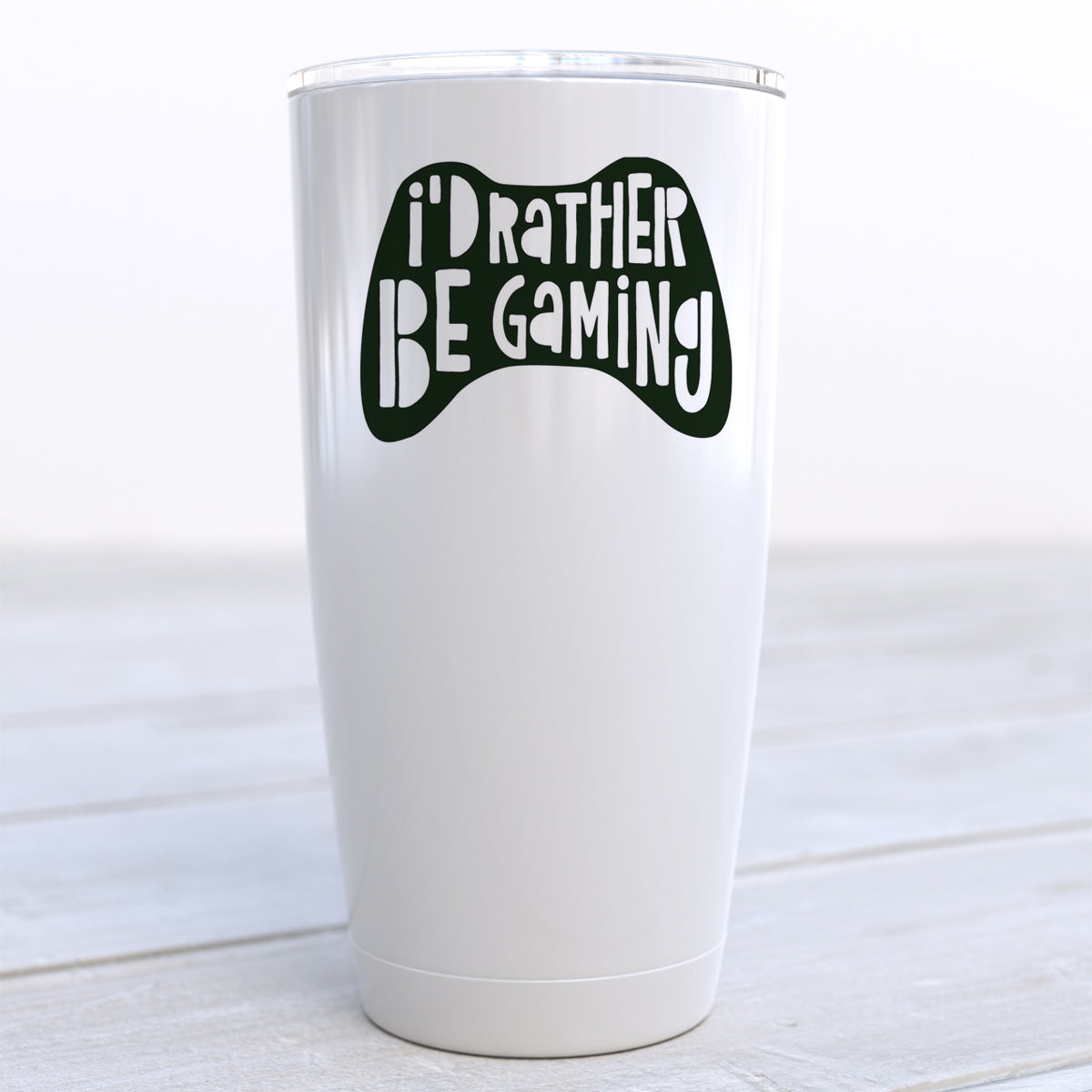 I'd Rather Be Gaming Travel Cup