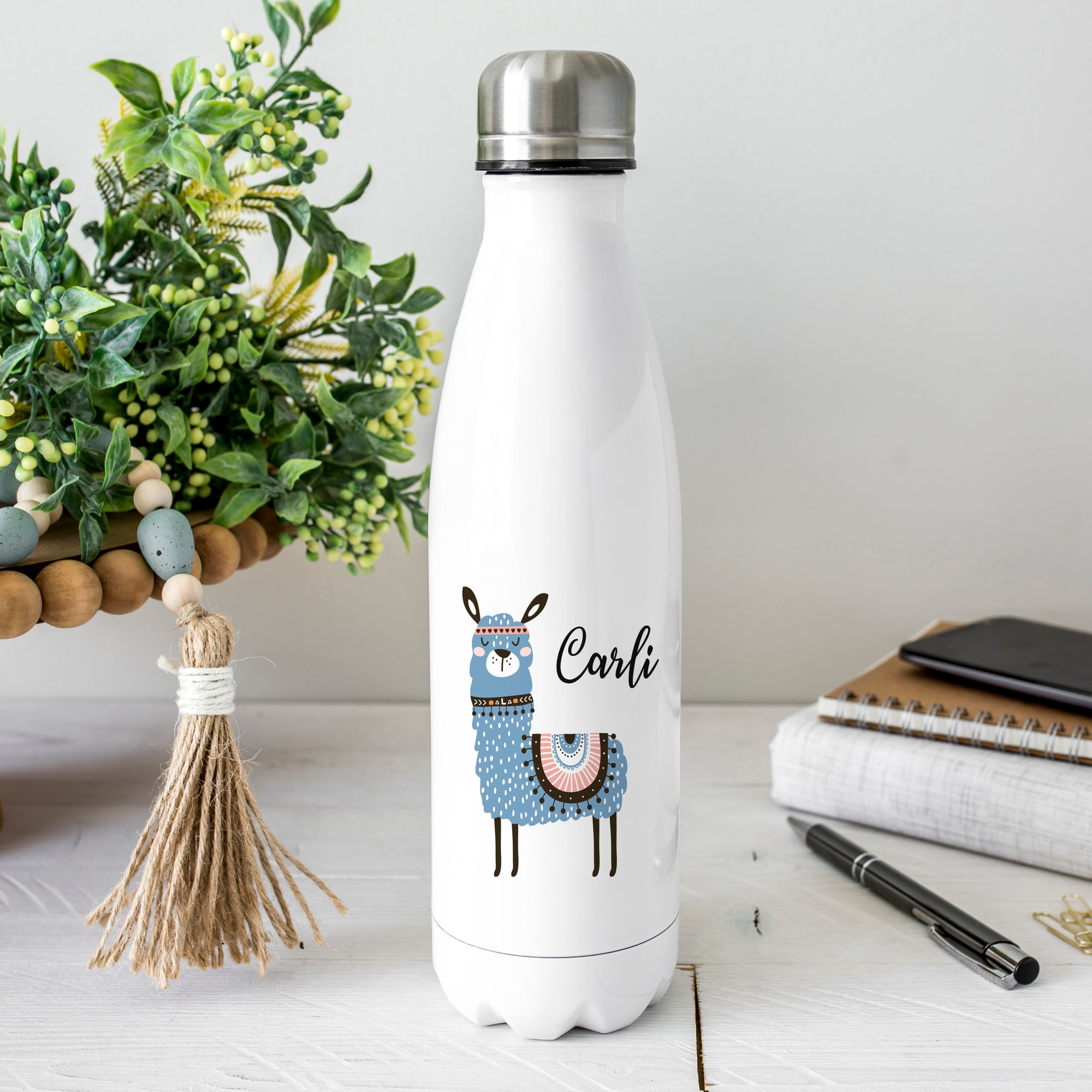 Personalized Llama Water Bottle