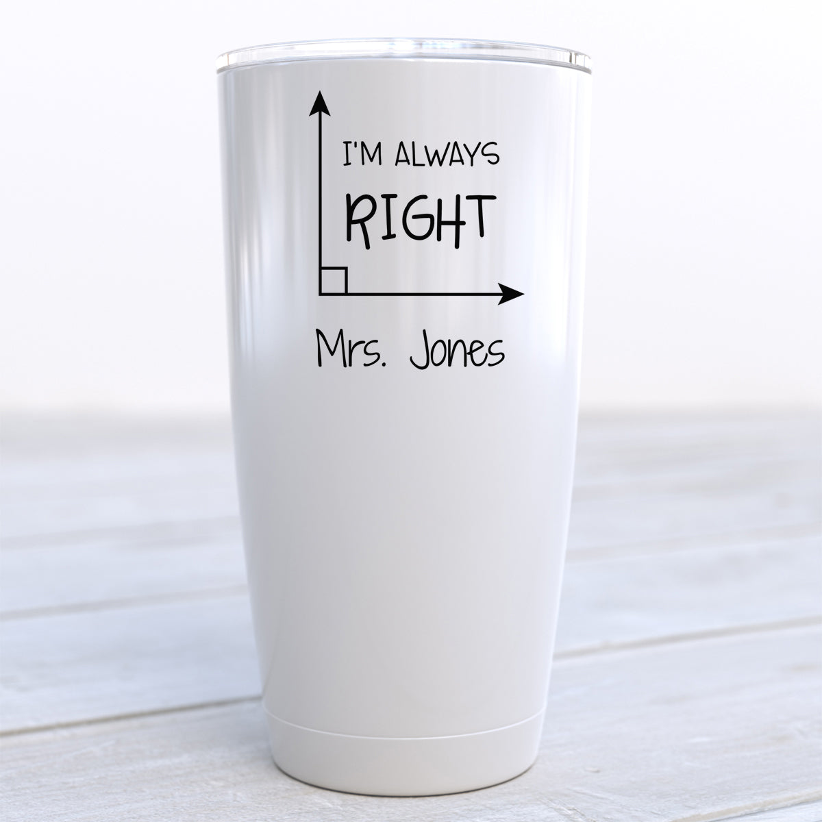 I'm Always Right Math Travel Cup
