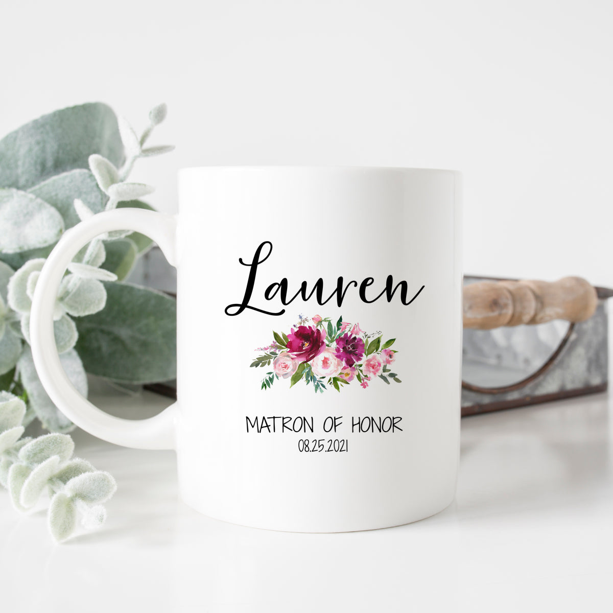 Floral Matron of Honor Mug