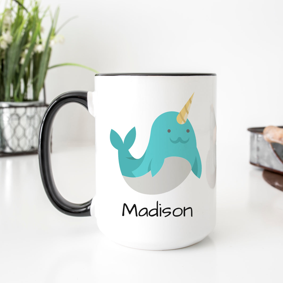 Personalized Narwhal Mug