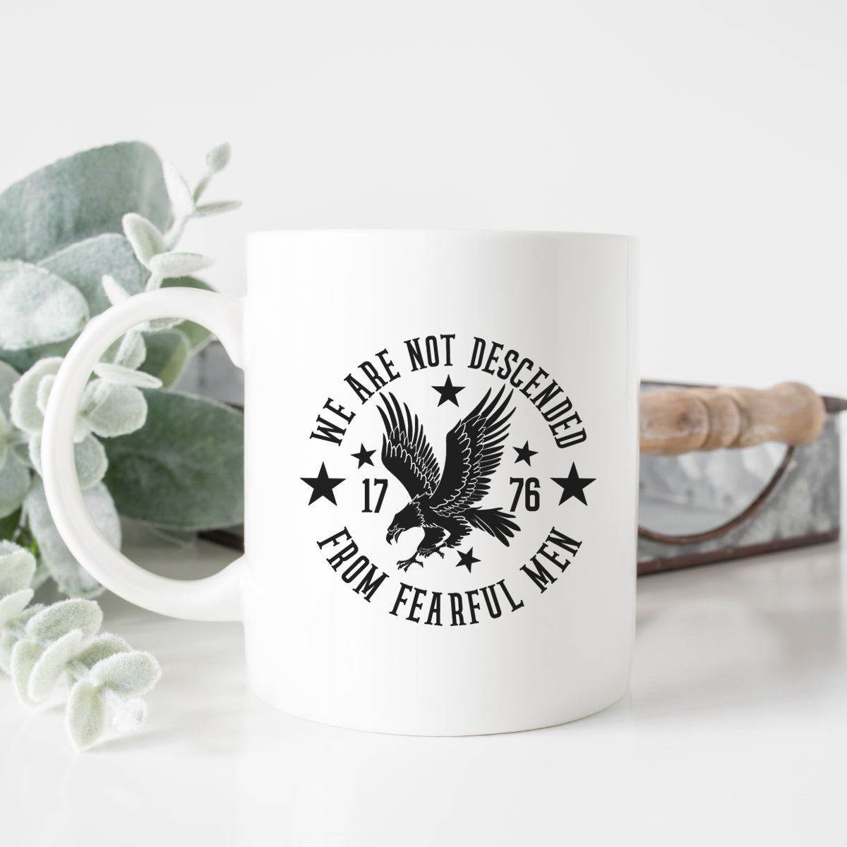 We Are Not Descended From Fearful Men Mug