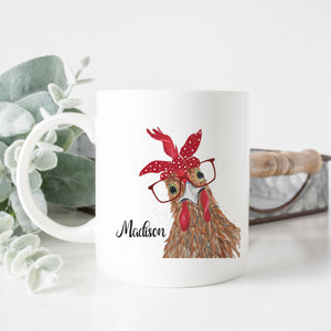 Personalized Chicken Mug