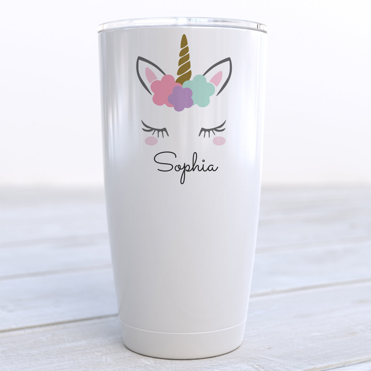 Personalized Unicorn Travel Cup