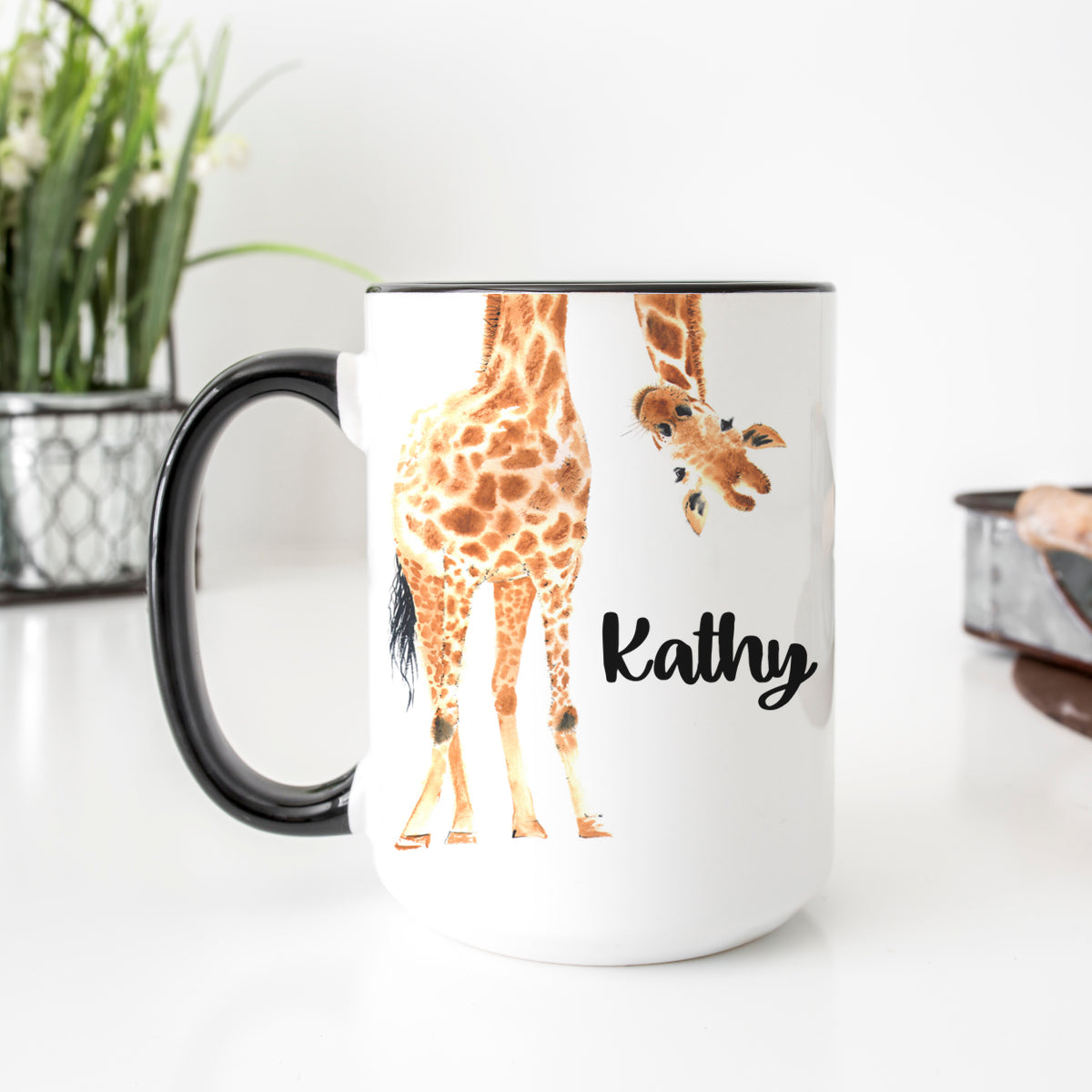 Personalized Giraffe Mug