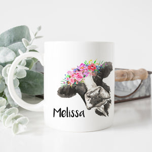Personalized Cow Mug