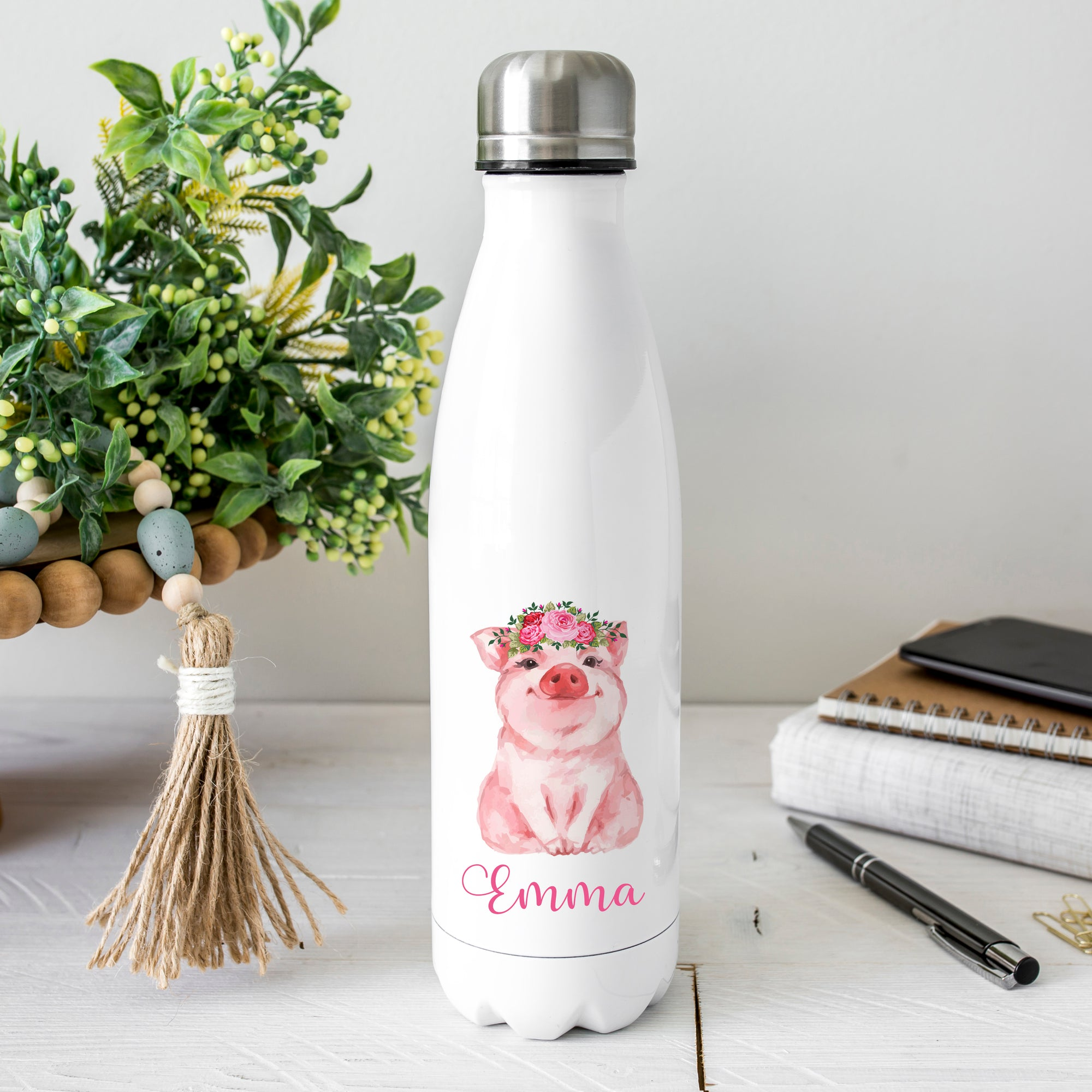 Personalized Pig Water Bottle