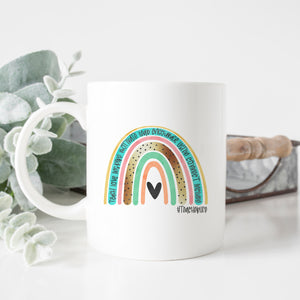 Teacher Life Rainbow Mug