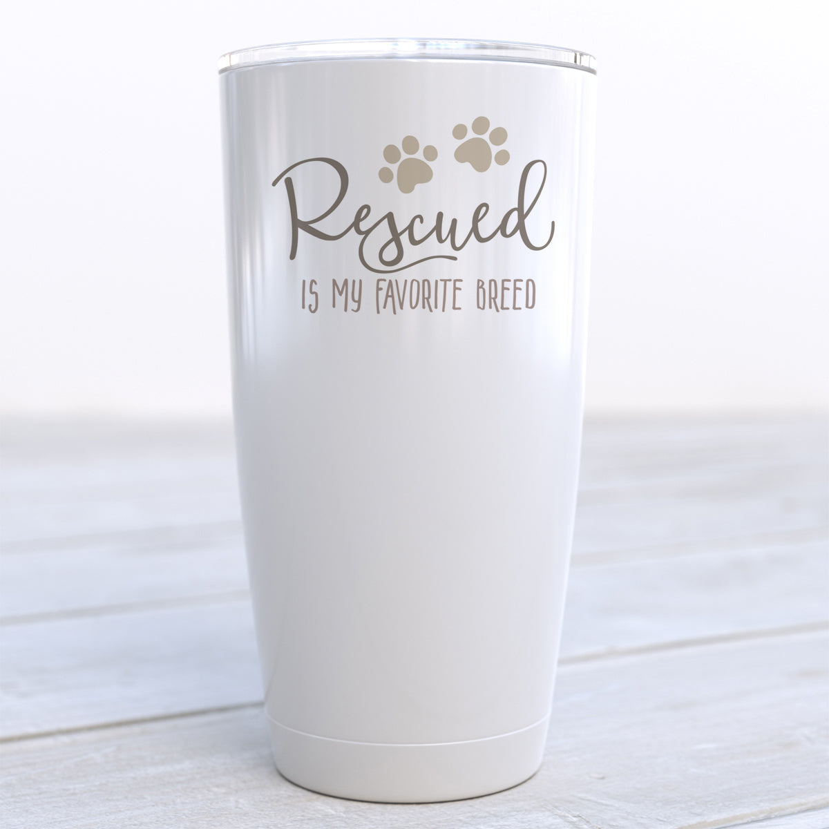 Rescued Is My Favorite Breed Travel Cup