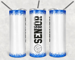 Vollyeball Senior 2021 Skinny Tumbler