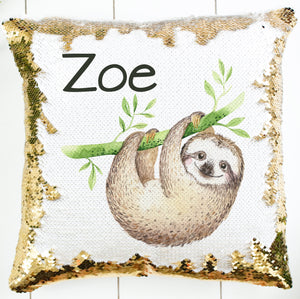 Personalized Sloth Pillow