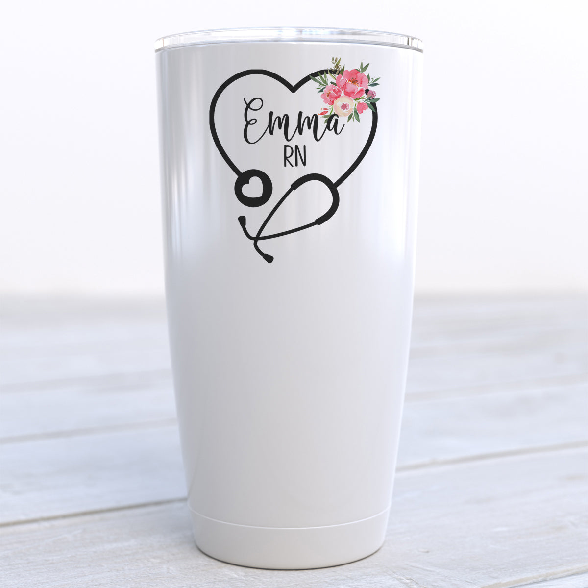 Personalized Nurse Stethoscope Travel Cup
