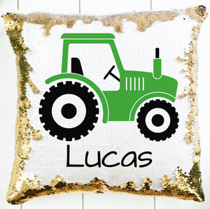Personalized Tractor Pillow