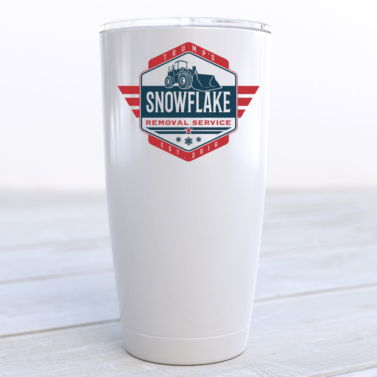 Snowflake Removal Service Travel Cup
