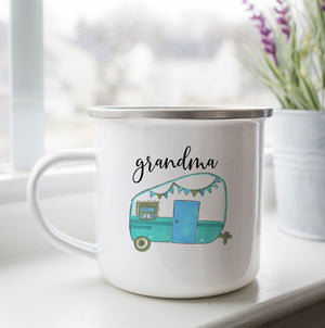 Personalized Vintage Camper Camp Cup