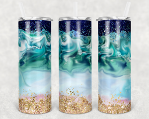 Personalized Swirly Beach Tumbler