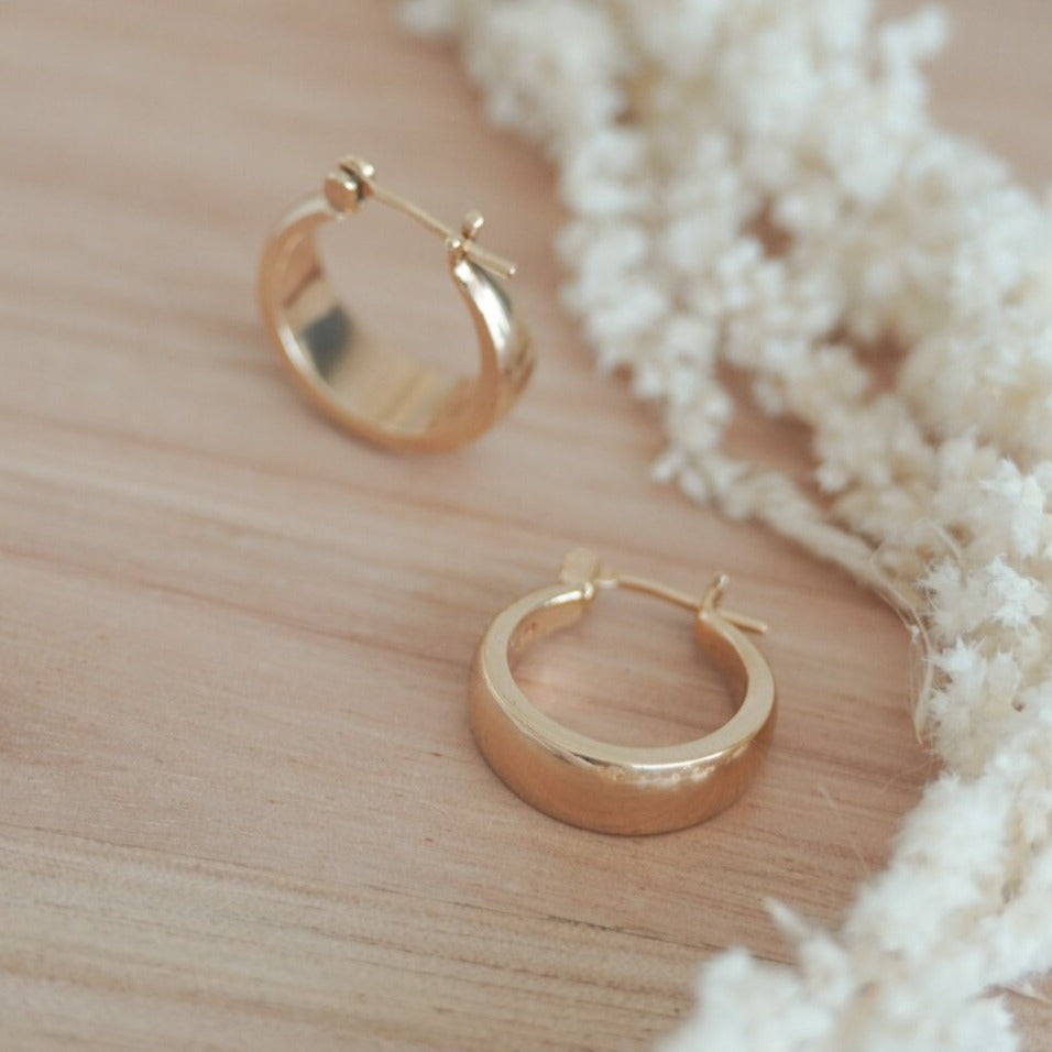 Chic Hoops 18k Gold Filled