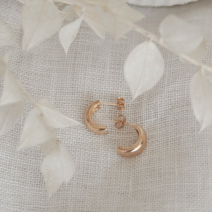 Cuff Hoops 18k Gold Filled