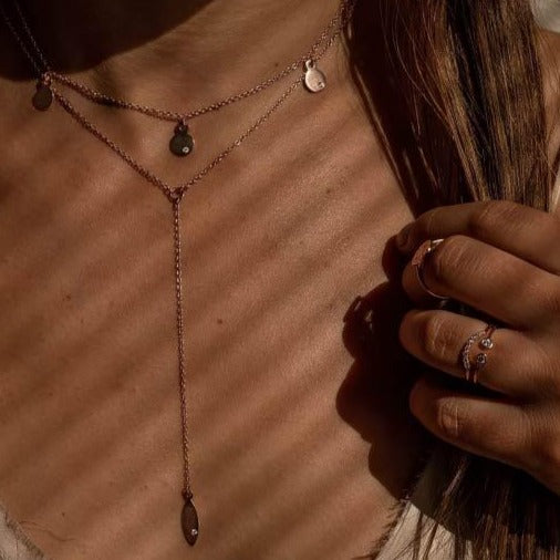Prana Necklace in Rose Gold