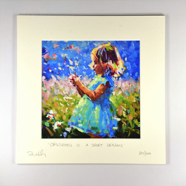 Childhood Is A Short Season (Girl) - Print - Paul Maloney - with mounting board
