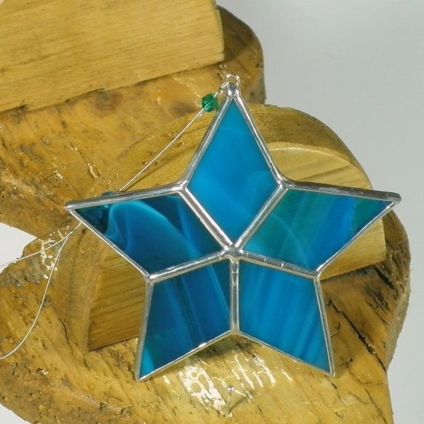 Aqua Star - Stained Glass Suncatcher – Ard aLume