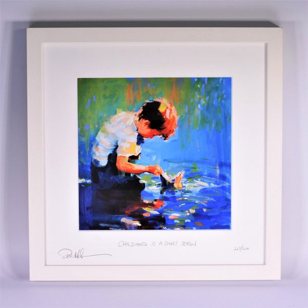 Childhood Is A Short Season (Boy) - Framed Print - Paul Maloney