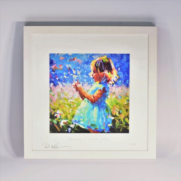 Childhood Is A Short Season (Girl) - Framed Print - Paul Maloney
