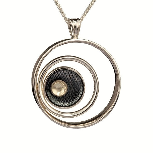 Come and Find Me Pendant - Sterling Silver and 9ct Gold – Simon Barber