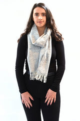 Donegal Tweed Scarf - Light Grey - McNutt of Donegal
