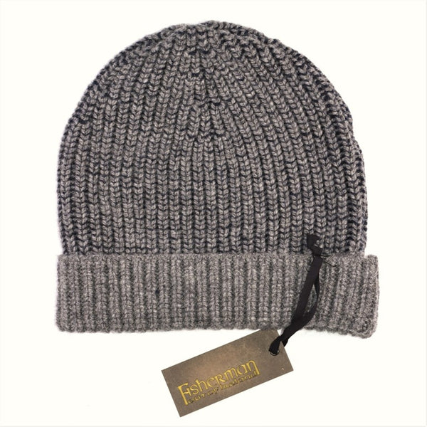 Fisherman's Rib Hat – Grey and Navy - Fisherman Out of Ireland