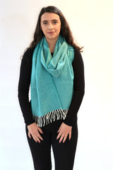 Herringbone Lambswool Scarf - Spearmint - McNutt of Donegal