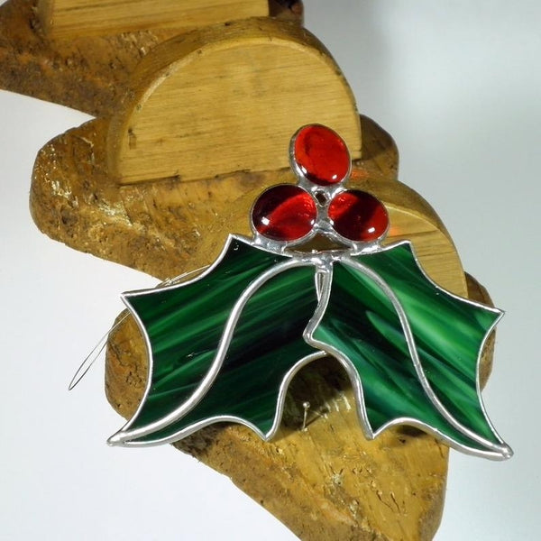 Holly Berry - 3D Stained Glass Suncatcher – Ard aLume