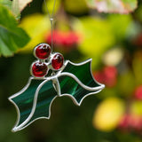 Holly Berry - Medium 3D Stained Glass Suncatcher – Ard aLume