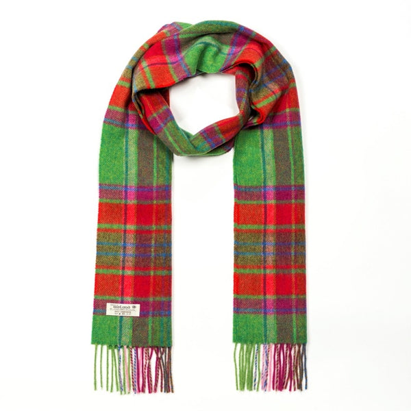 Lambswool Scarf - Red and Green Check - John Hanly