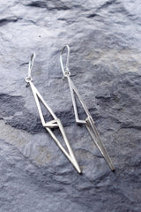 """Le Cheíle"" Linked Drop Earrings - Sterling Silver – Miriam Wade"