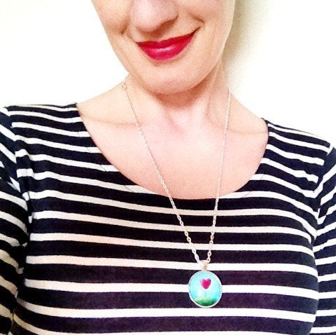 Medium Pendant – Colour Pop Purple – Amélie Gagné