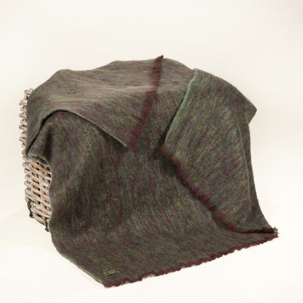 Mohair Throw - Purple and Green - John Hanly
